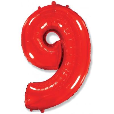 Цифра 9 красная (102 см)