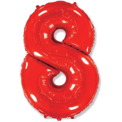 Цифра 8 красная (102 см)