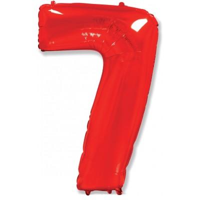 Цифра 7 красная (102 см)
