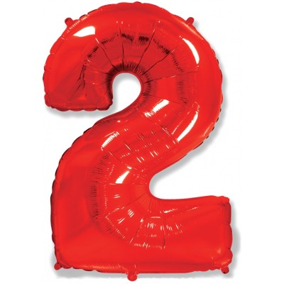 Цифра 2 красная (102 см)