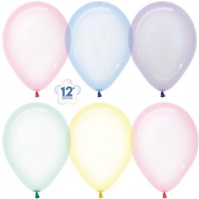 Воздушный шар Макарунс хрустальное ассорти кристалл (30 см)