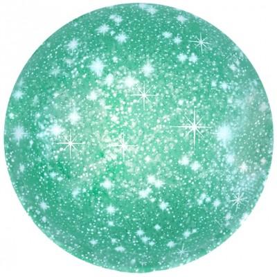 Однотонный фольгированный воздушный шар-круг искры зеленый (46 см)