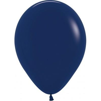Воздушный шар темно-синий пастель (30 см)