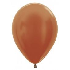 Воздушный шар медный металлик (30 см)