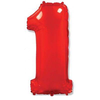 Цифра 1 красная (102 см)