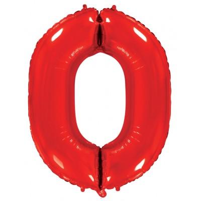 Цифра 0 красный (102 см)