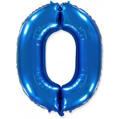 Цифра 0 синяя (102 см)