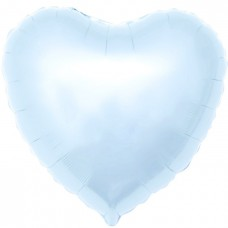 Однотонный фольгированный воздушный шар Сердце светло-голубой (48 см)