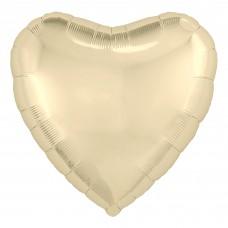 Однотонный фольгированный воздушный шар Сердце шампань (48 см)