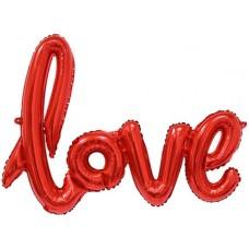 """Фольгированный шар-фигура надпись """"LOVE"""" красный (104 см)"""