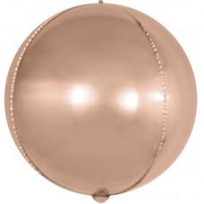 Шар-сфера 3D розовое золото (61 см)