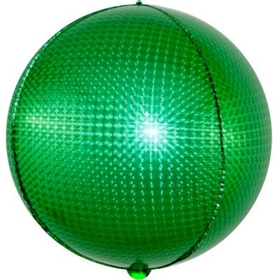 Шар-сфера 3D стерео зеленый голография (61 см)