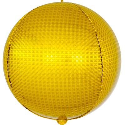 Шар-сфера 3D стерео золото голография (61 см)