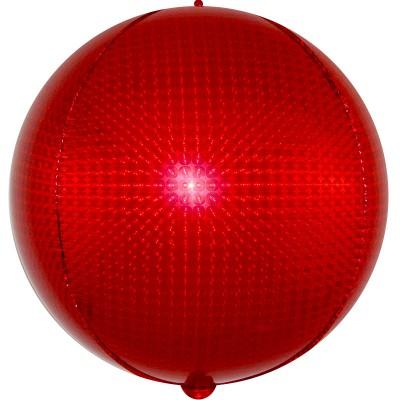 Шар-сфера 3D стерео красный голография (61 см)