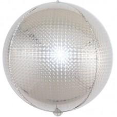 Шар-сфера 3D стерео серебро голография (61 см)