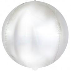 Шар-сфера 3D матовое серебро голография (61 см)