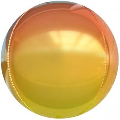 Шар-сфера 3D оранжевый градиент (61 см)