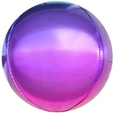 Шар-сфера 3D фиолетовый-фуше градиент (61 см)