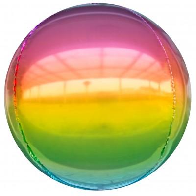 Шар-сфера 3D радужный градиент (61 см)