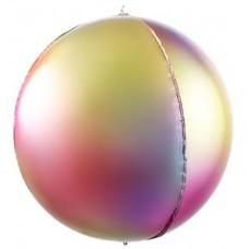 Шар-сфера 3D радужная феерия градиент (61 см)