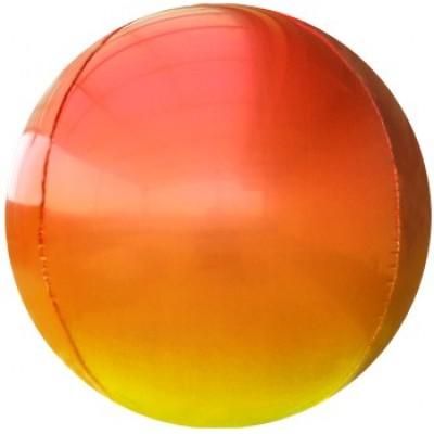 Шар-сфера 3D красный-желтый градиент (61 см)