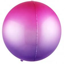 Шар-сфера 3D фуше-фиолетовый градиент (61 см)