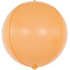 Шар-сфера 3D макарунс оранжевый (61 см)