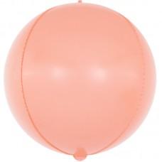 Шар-сфера 3D макарунс розовый коралл (61 см)