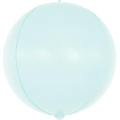 Шар-сфера 3D макарунс светло-голубой (61 см)