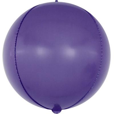 Шар-сфера 3D макарунс фиолетовый (61 см)