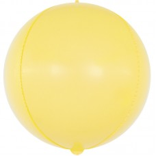 Шар-сфера 3D макарунс желтый (61 см)