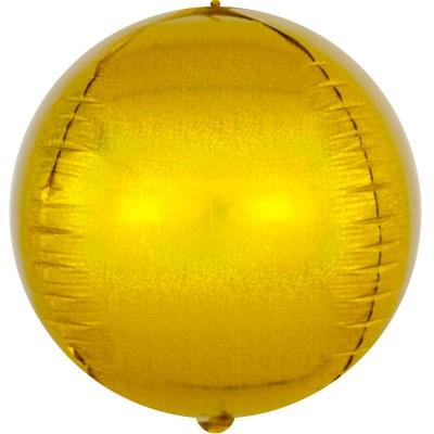 Шар-сфера 3D золото голография (61 см)