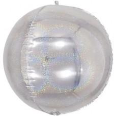 Шар-сфера 3D серебро голография (61 см)