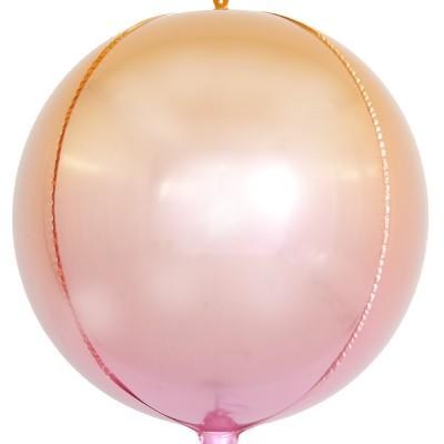 Шар-сфера 3D розовый градиент (61 см)