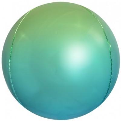 Шар-сфера 3D светло-зеленый-голубой градиент (61 см)