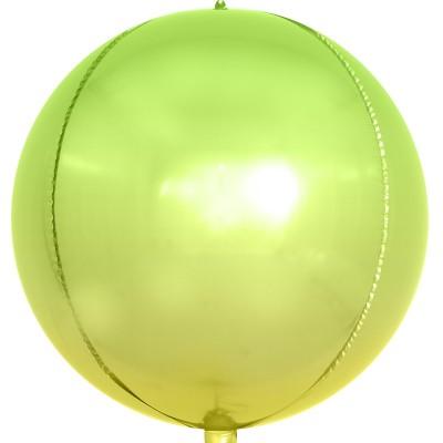 Шар-сфера 3D cветло-зеленый градиент (61 см)