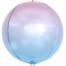 Шар-сфера 3D сиреневый градиент (61 см)