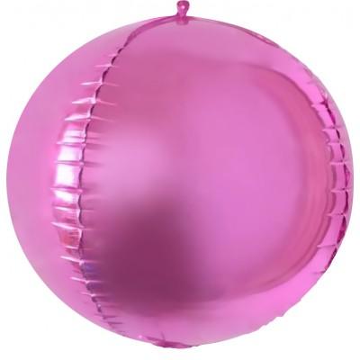 Шар-сфера 3D розовый (61 см)