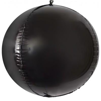 Шар-сфера 3D черный (61 см)
