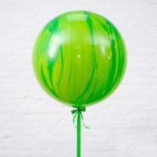 Шар-гигант «№3» зелёный агат (80 см)