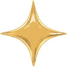 Фольгированный воздушный шар-звезда Конечная золото (71 см)