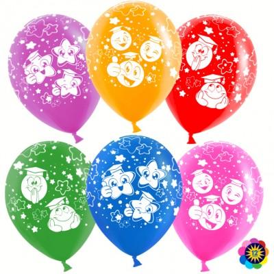 Воздушный шар Смайл (ученик) ассорти лайт пастель (30 см)