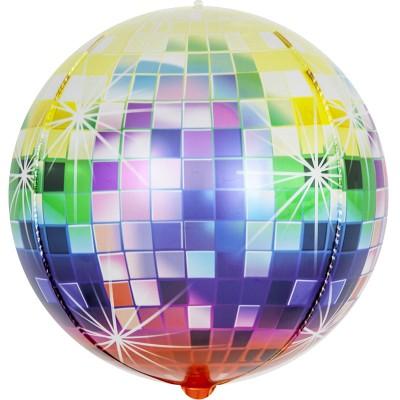 Шар-сфера 3D Сверкающее диско разноцветный градиент (61 см)