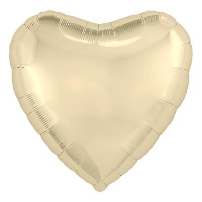 Фольгированный воздушный шар-сердце Шампань (48 см)