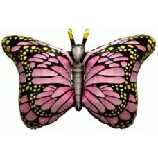 Фольгированный воздушный шар-фигура Бабочка-монарх фуше (97 см)