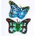 Фольгированный воздушный шар-фигура Бабочка-монарх синий (97 см)