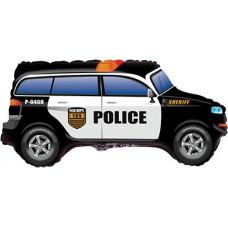 Фольгированный воздушный шар-фигура Полицейская машина черный (84 см)