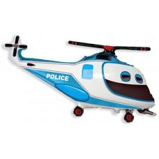 Фольгированный воздушный шар-фигура Полицейский вертолет (97 см)