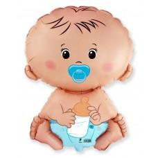 Фольгированный воздушный шар-фигура Малыш мальчик (66 см)
