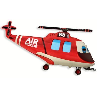 Фольгированный воздушный шар-фигура Вертолет-Спасатель (97 см)